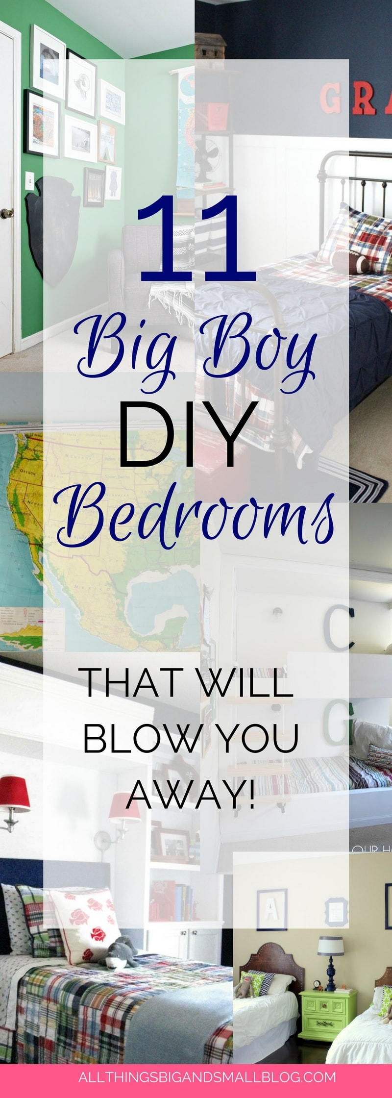 Boy Rooms | Big Boy Rooms | Amazing DIY Boy Rooms | DIY Big Boy Rooms | Blogger's Best Big Boy Rooms | Roundup by All Things Big and Small Blog