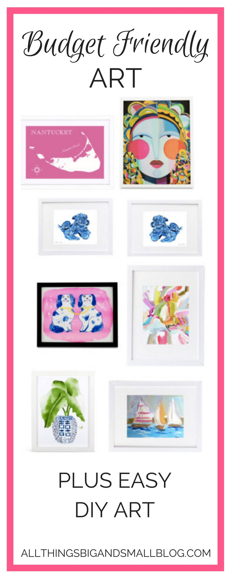 budget friendly art | affordable artwork for your home that looks amazing | All Things Big and Small - Budget Art by popular home decor blogger DIY Decor Mom