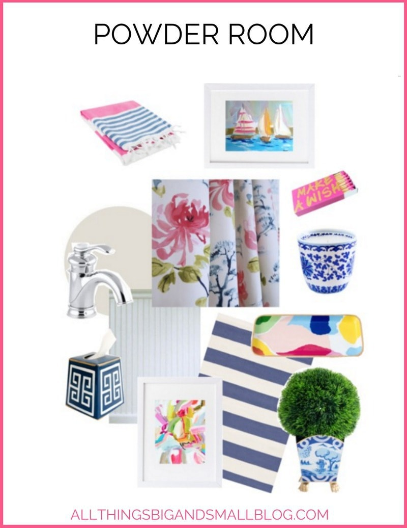 One Room Challenge Powder Room Refresh | All Things Big and Small
