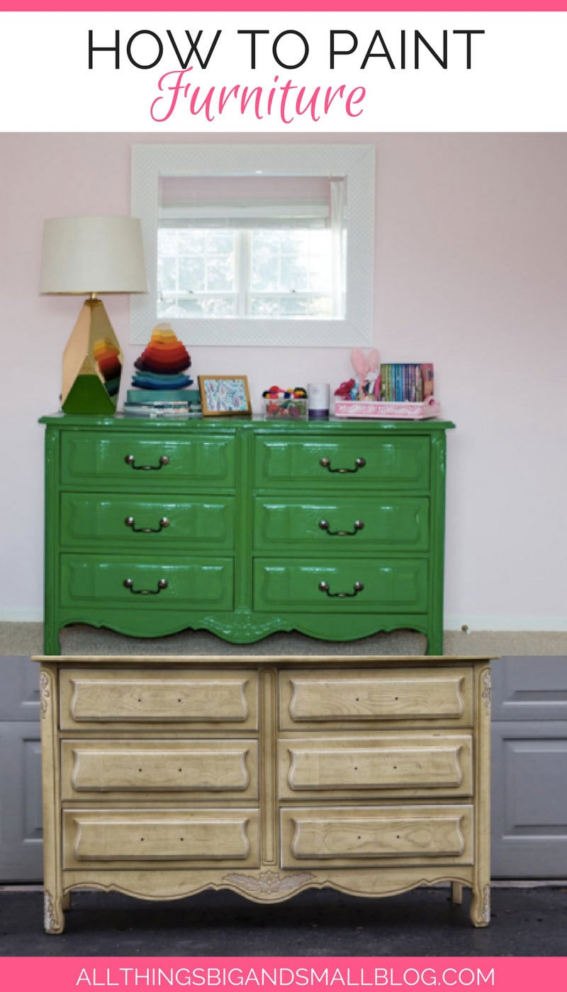 how to paint furniture | paint furniture without sanding - How to Paint Furniture The Easy Way: A Step-by-Step Tutorial by home decor blogger DIY Decor Mom