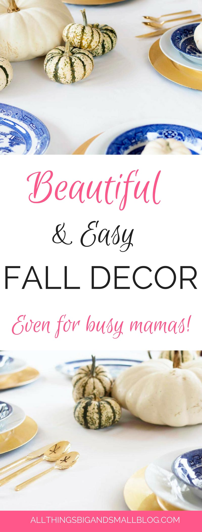 FALL DECOR that is EASY and beautiful! More budget friendly home decor from ALL THINGS BIG AND SMALL