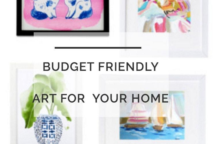 Budget Friendly Art: One Room Challenge Week 4