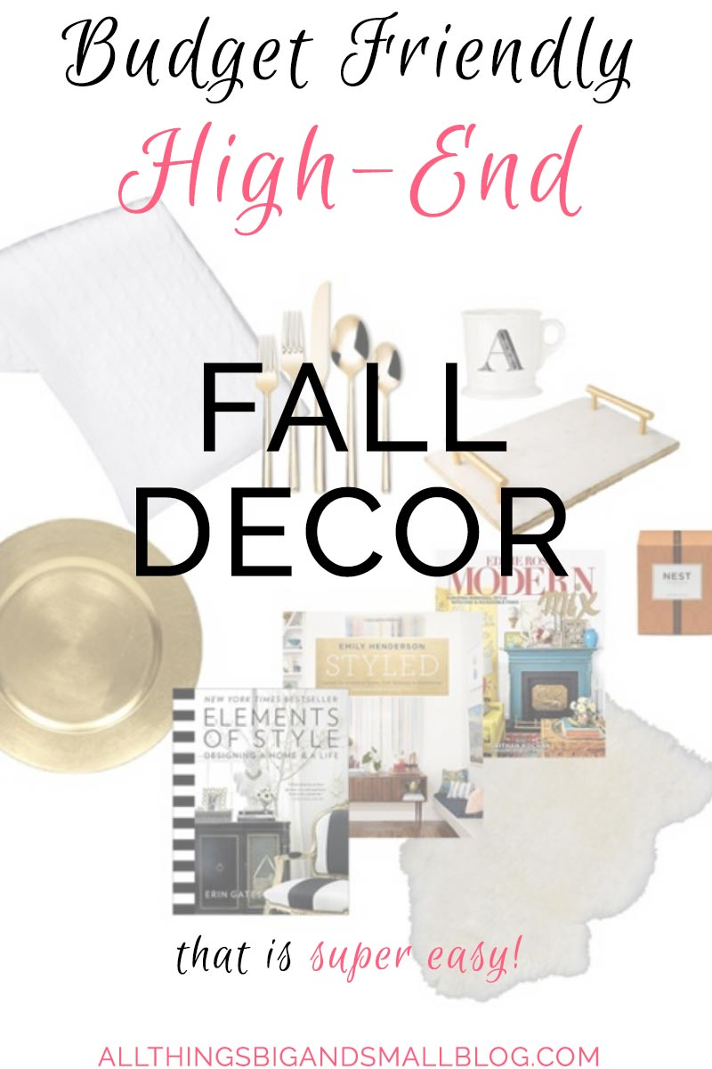 FALL DECOR that is budget friendly and EASY from ALL THINGS BIG AND SMALL BLOG