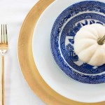 Blue And White Tablescape: DIY Housewives Vol. 17 All Things Pumpkins