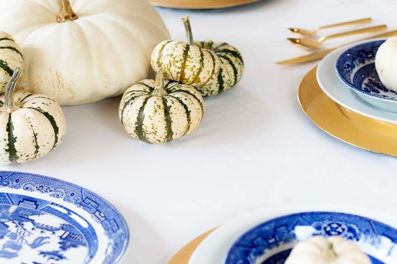 Thanksgiving table | you won't believe how easy and cheap this tablescape was! Great budget friendly fall decor | ALL THINGS BIG AND SMALL
