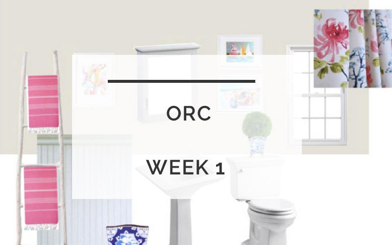 Powder Room Redo | One Room Challenge | All Things Big and Small