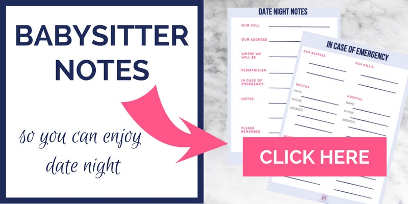 babysitter notes in case of emergency printable