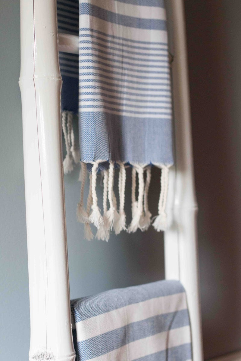bamboo ladder turkish towel | All Things Big and Small