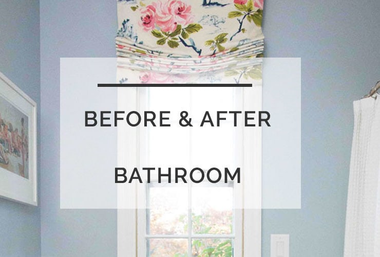Before and After Budget Friendly Bathroom: ORC Week 6