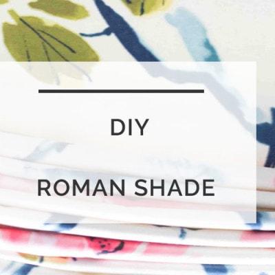 DIY Roman Shade | Roman Shade DIY | Making Roman Shades | All Things Big and Small