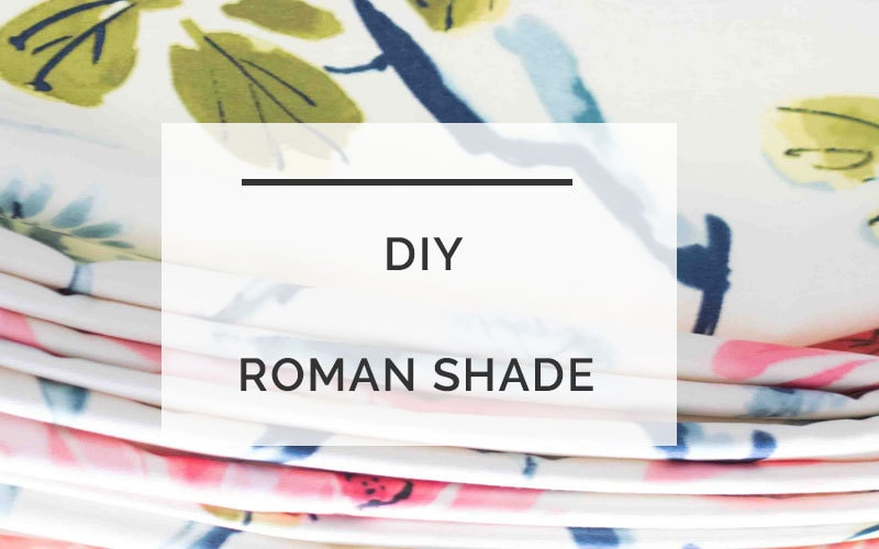 DIY Roman Shade | Roman Shade DIY | Making Roman Shades | All Things Big and Small