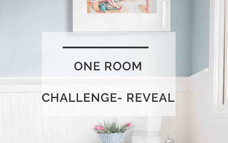 one room challenge powder room