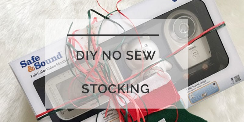 DIY No Sew Stocking | First Christmas Gift Ideas | Video Baby Monitor | ALlL THINGS BIG AND SMALL