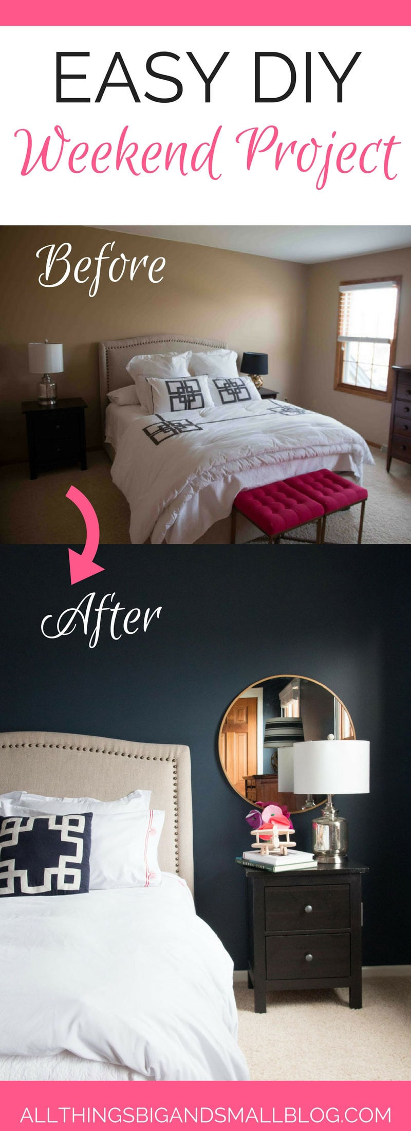 DIY Weekend Project | Guest Room Refresh | All Things Big and Small