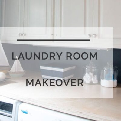 laundry room makeover | laundry room ideas | All Things Big and Small