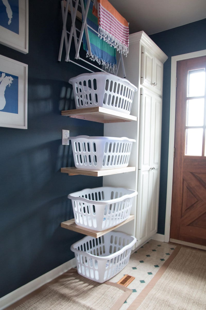 LAUNDRY ROOM IDEAS | LAUNDRY ROOM STORAGE | LAUNDRY ROOM REORGANIZATION MAKEOVER | ALL THINGS BIG AND SMALL FOR ANGIES LIST