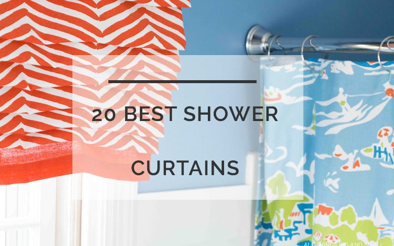 20 Best Shower Curtains to Decorate Your Bathroom