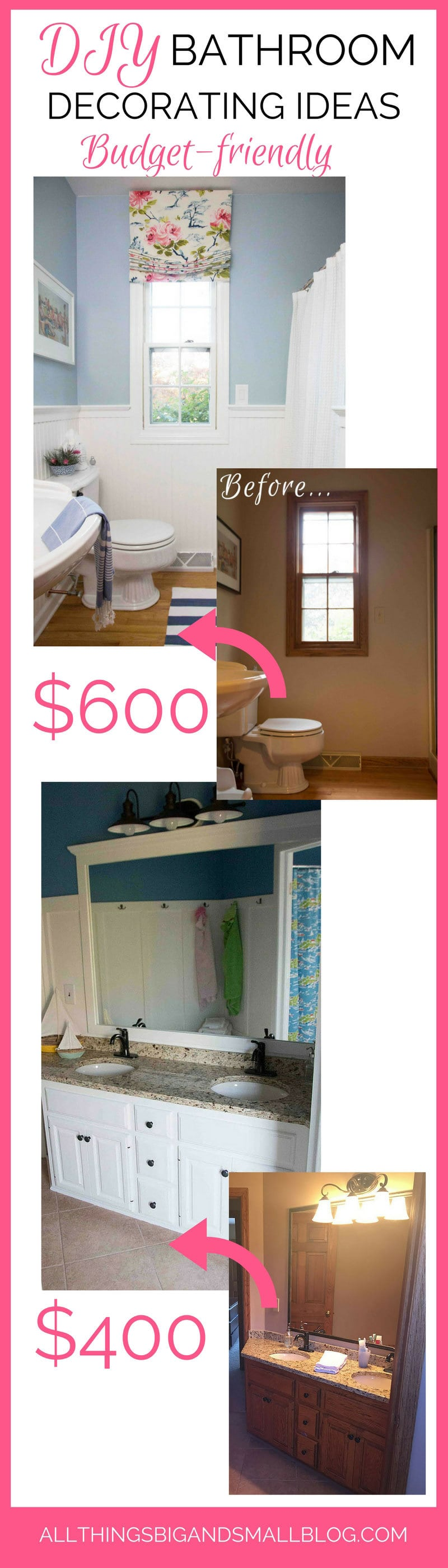 Bathroom Decorating Ideas | Budget Friendly Bathroom | DIY Bathroom Remodel | ALL THINGS BIG AND SMALL