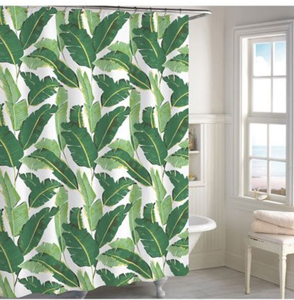 palm beach shower curtain | best shower curtains | decorate bathroom | ALL THINGS BIG AND SMALL - 20 Best Shower Curtains to Decorate Your Bathroom by popular home decor blogger DIY Decor Mom