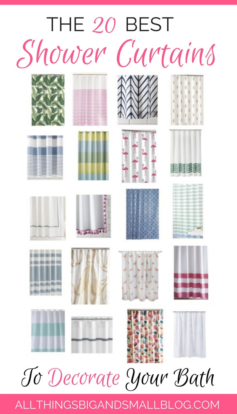 20 Best Shower Curtains | Stylish Shower Curtains | Bathroom Shower Curtains | ALL THINGS BIG AND SMALL