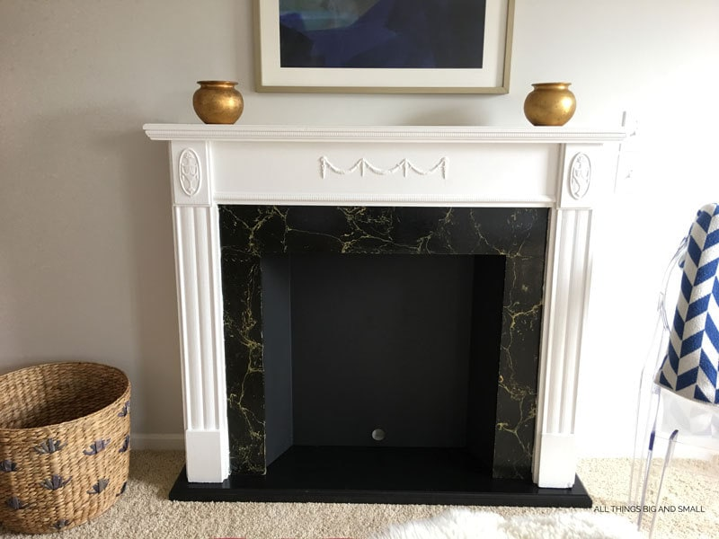 DIY Faux Fireplace | DIY Mantel | ALL THINGS BIG AND SMALL