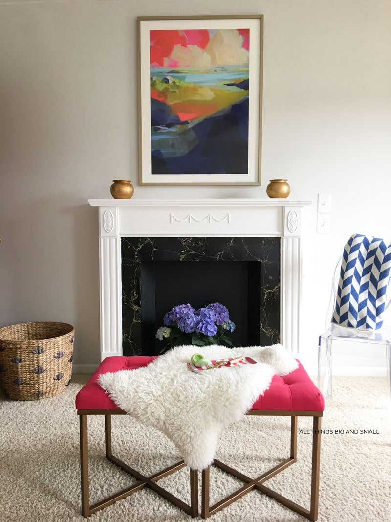 DIY Vintage Faux Fireplace | DIY Faux Fireplace | DIY Mantel | ALL THINGS BIG AND SMALL