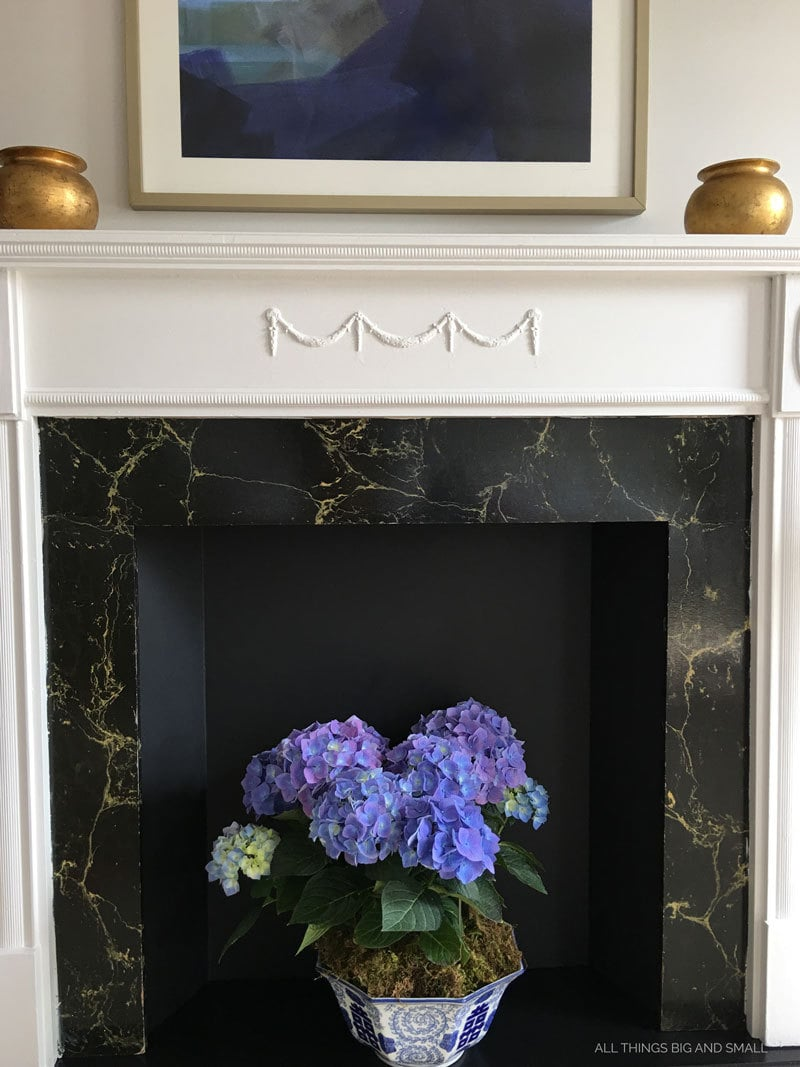 Faux Fireplace DIY | How to Refinish Faux Fireplace | Fireplace Mantel | ALL THINGS BIG AND SMALL