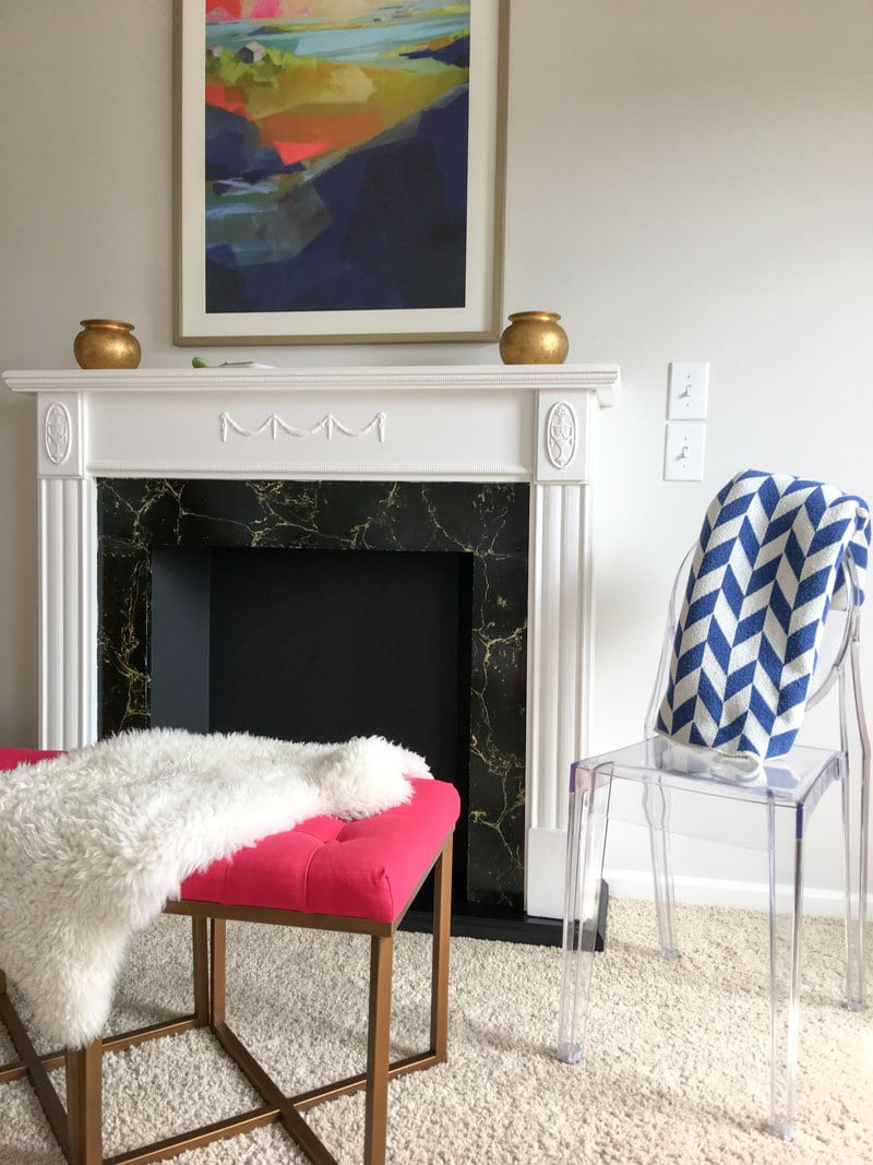DIY Faux Fireplace | How to Refinish a Faux Fireplace | Vintage Fireplace DIY | ALL THINGS BIG AND SMALL