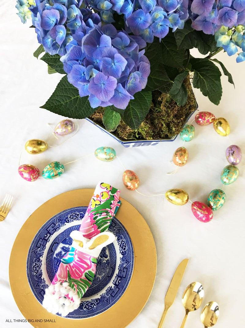 Beautiful Easter Tablescape | Easy Easter Tablescape | Easter Tablesetting | ALL THINGS BIG AND SMALL