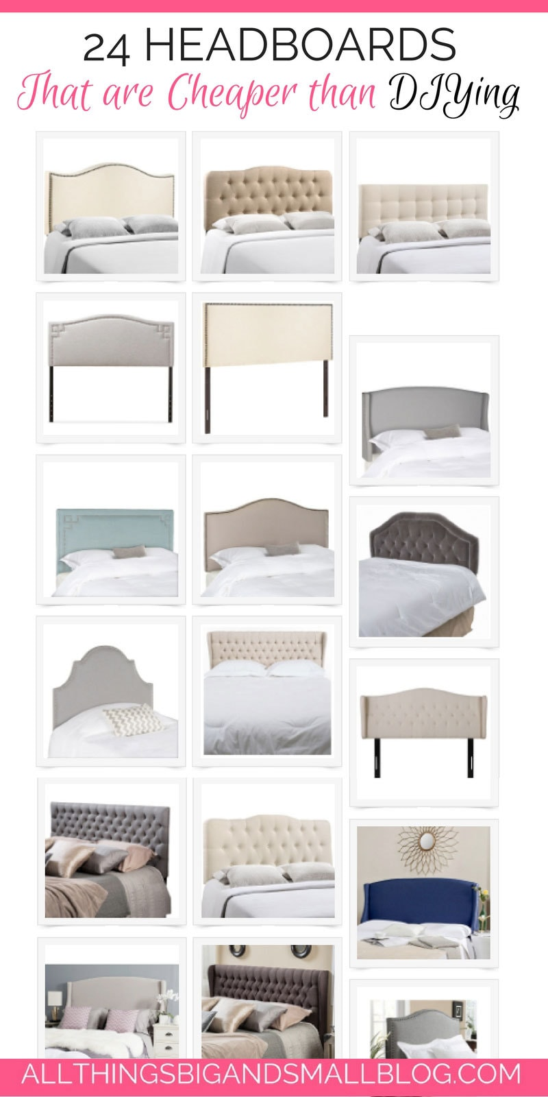 affordable headboards | best headboards that are cheaper to buy than DIY! ALL THINGS BIG AND SMALL