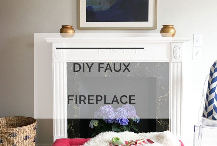 DIY Faux Fireplace: How to Refinish a Vintage Mantel
