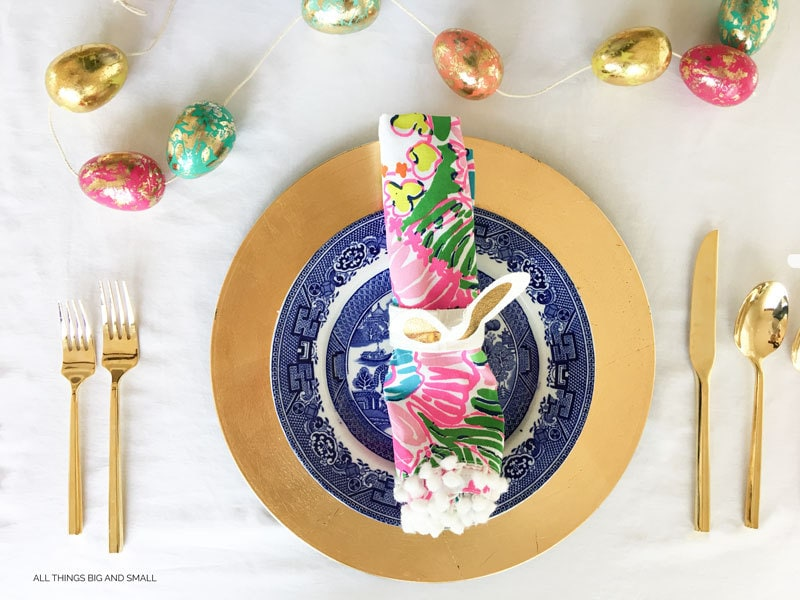 Easy Easter Tablescape | How to Add Color to your table | ALL THINGS BIG AND SMALL