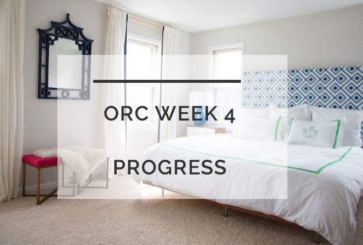 One Room Challenge Week 4: DIY Headboard and Mirror