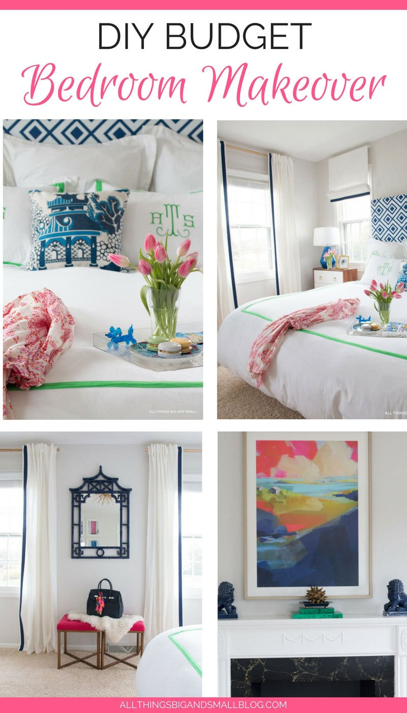Amazing Bedroom Makeover - One Room Challenge | All Things Big and Small Blog |