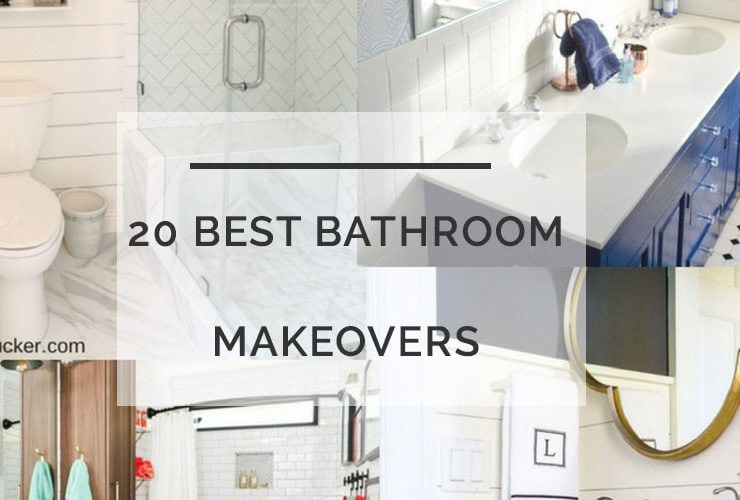 20 BEST Bathroom Makeovers that Won't Bust Your Budget