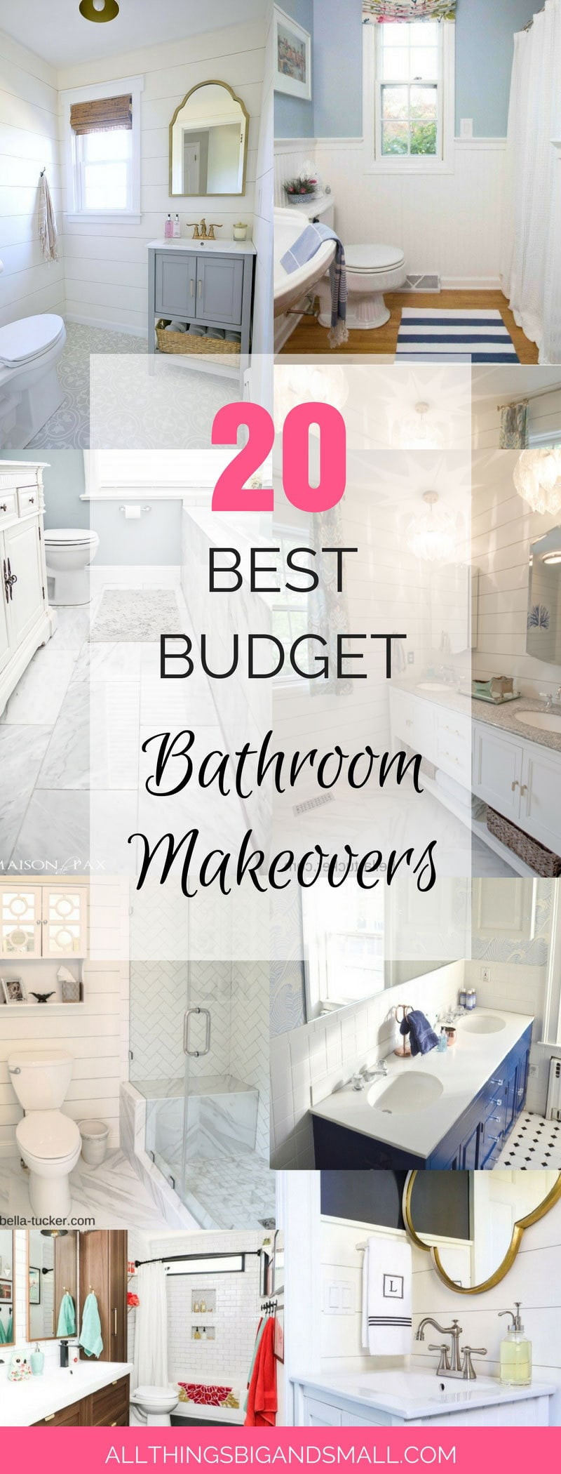 Best Budget Friendly Bathroom Makeovers You Have To See! | Bathroom Makeover | ALL THINGS BIG AND SMALL