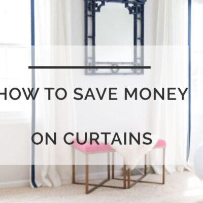 diy curtains save money