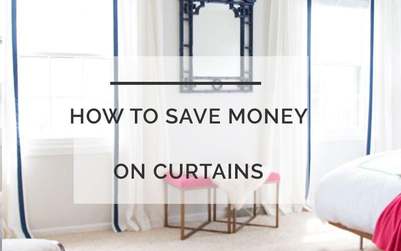 diy curtains save money