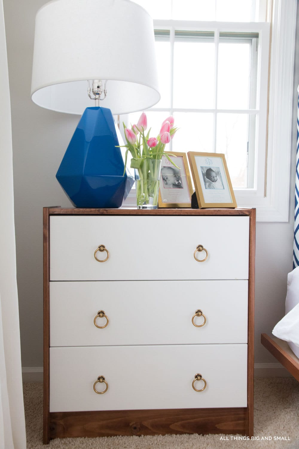 5 minute fix for bedside table lamps that are too far from your bed! ALL THINGS BIG AND SMALL