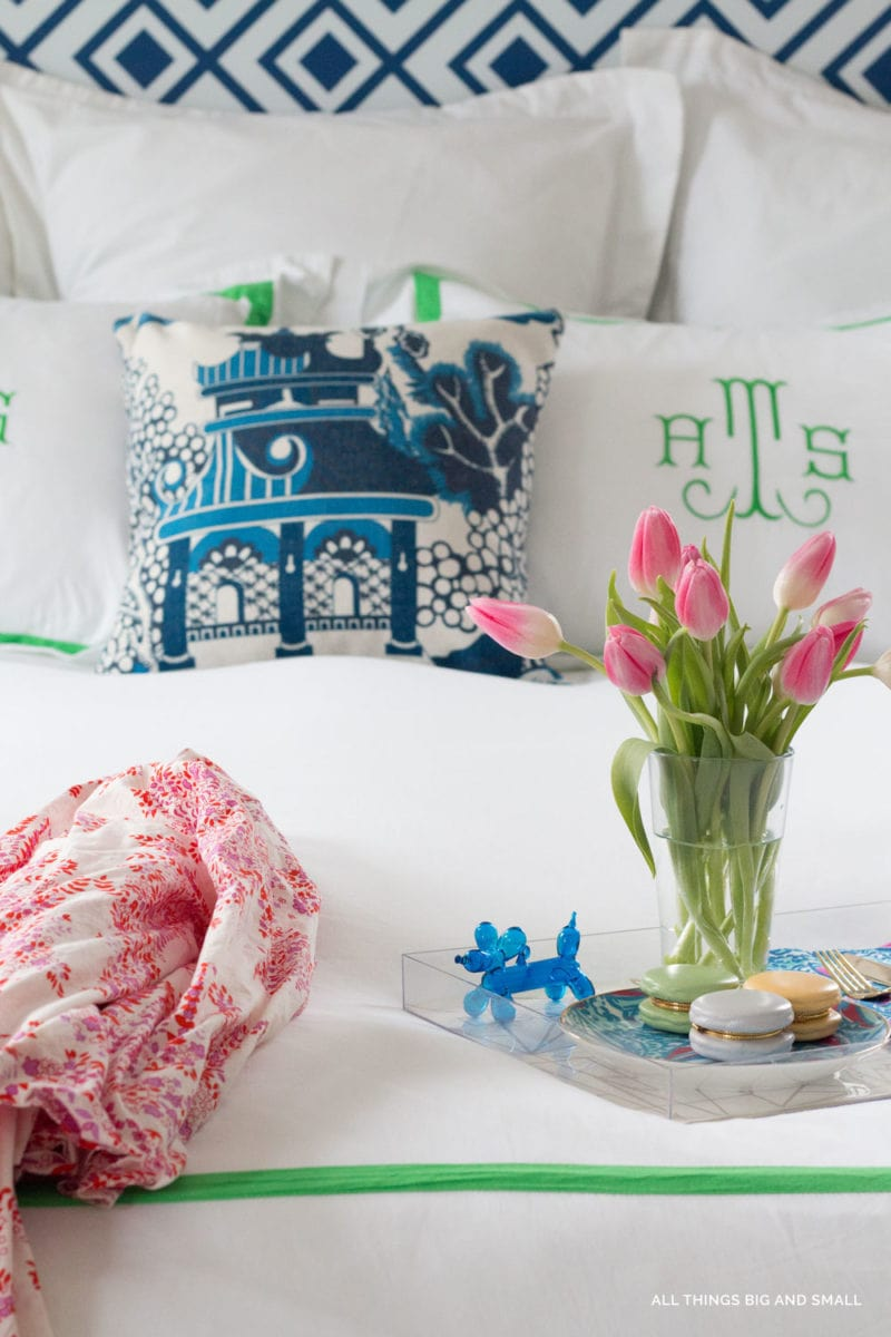 The Best Sources for monogrammed bedding and duvet covers from ALL THINGS BIG AND SMALL
