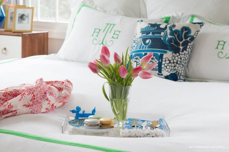 Best sources for monogrammed bedding and duvet covers from ALL THINGS BIG AND SMALL