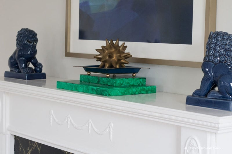 blue greek key tray- best decorative trays for your home by home decor blogger DIY Decor Mom