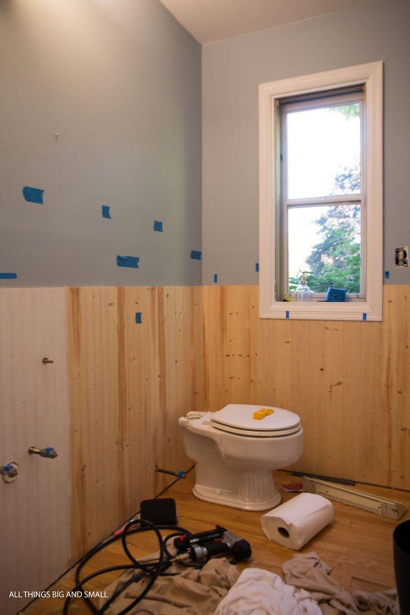 Beadboard in bathroom