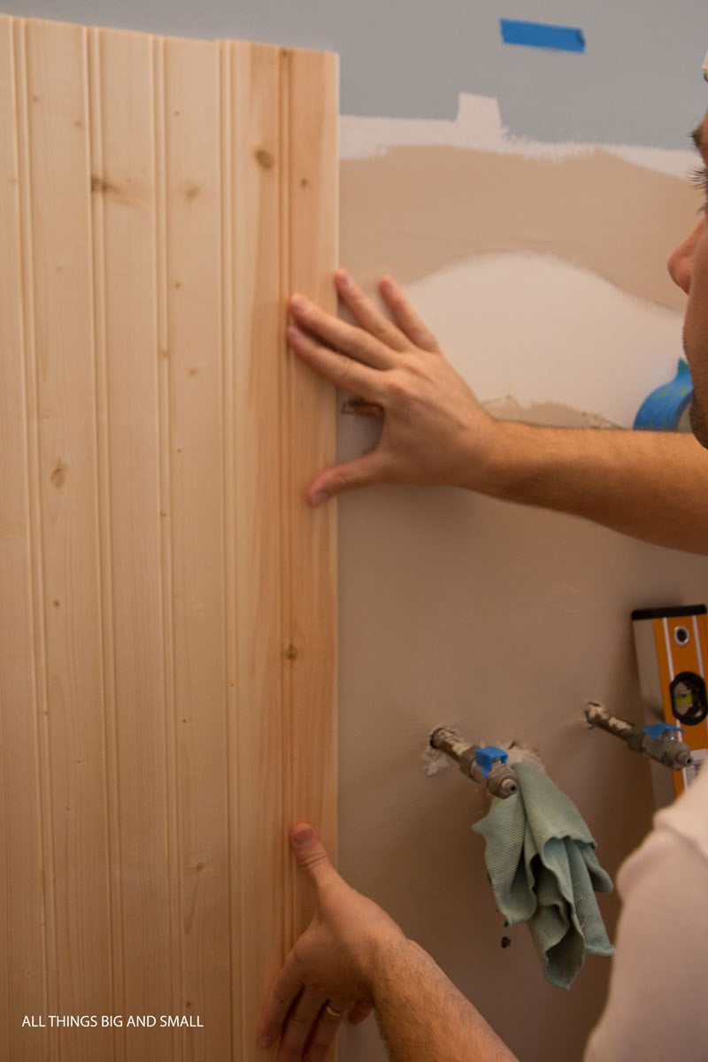 how to install beadboard on bathroom walls