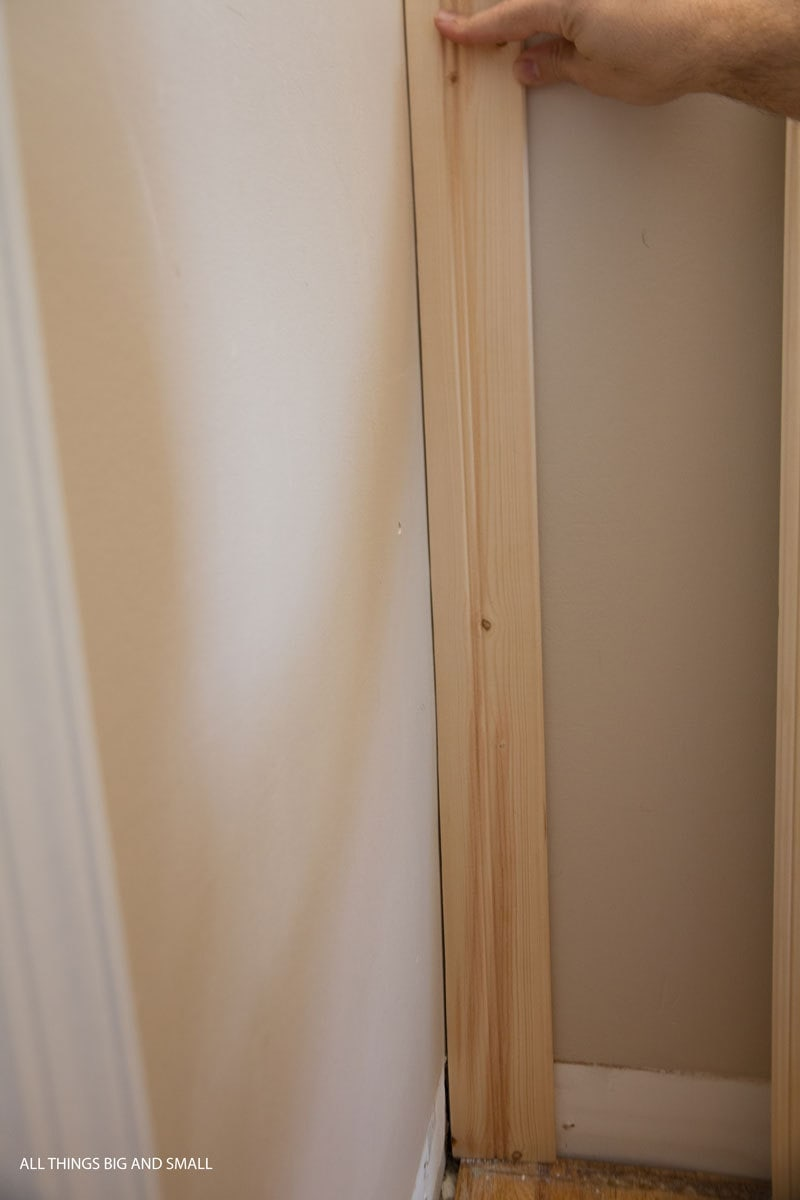 how to scribe a beadboard plank into a wall to have a right angle and perfect fit