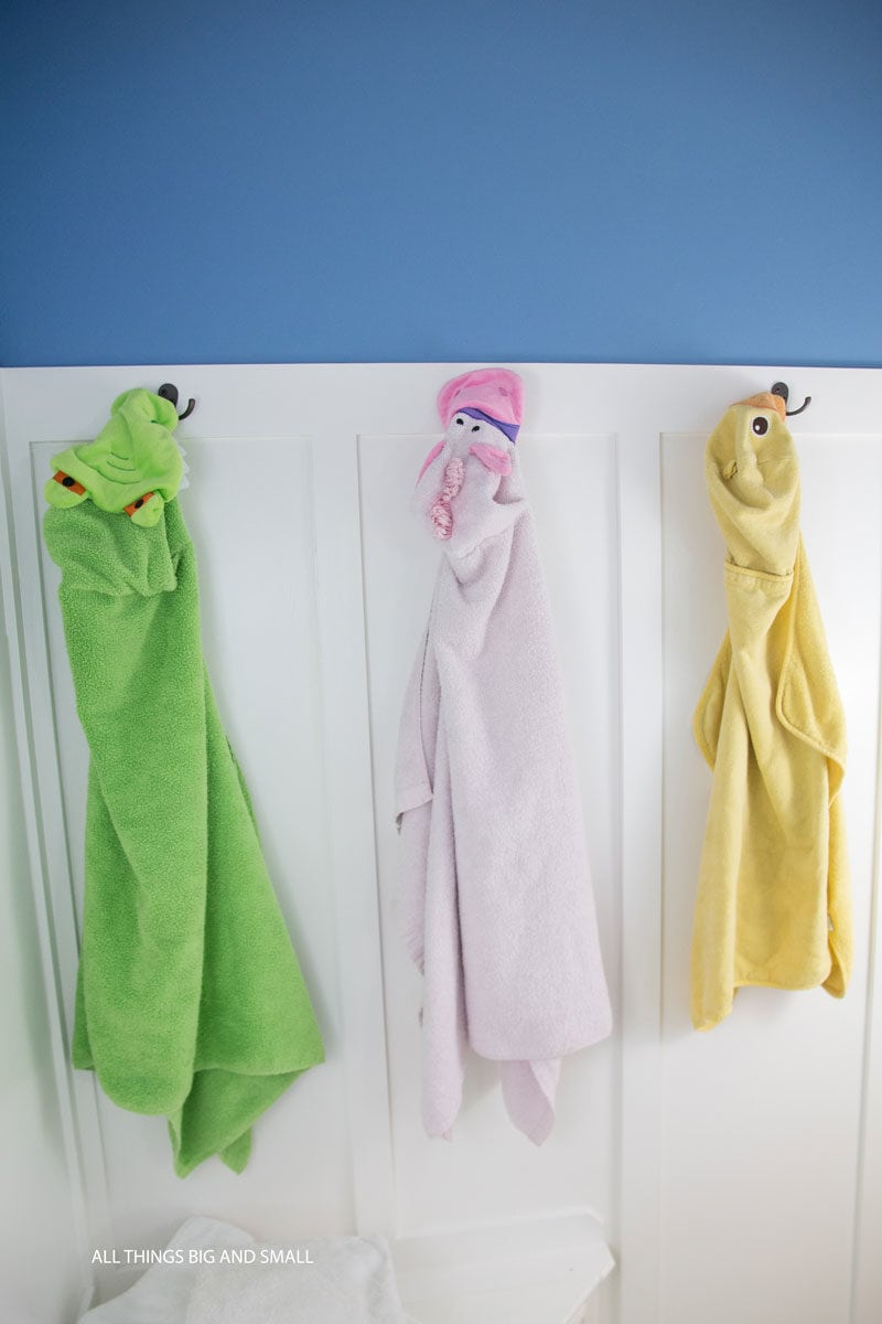 Love this! Cute kids towels and home organization tips from decor and mom blogger DIY Decor Mom! - Home Organization Tips for REAL Moms by popular home decor blogger DIY Decor Mom