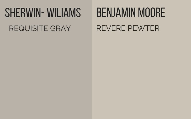 In The Same Family Benjamin Moore Revere Pewter Is Another One Of Best Gray Paint Colors It Has A Lot More Beige Than Sherwin Williams Requisite