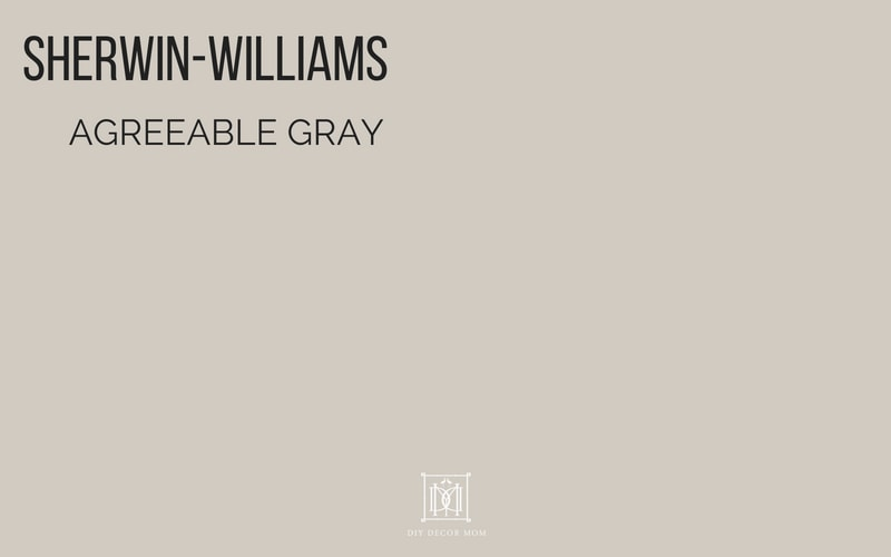 SHERWIN WILLIAMS Agreeable Gray Paint Color