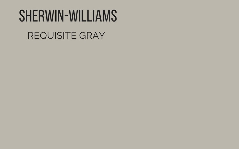 sherwin williams requisite gray paint swatch