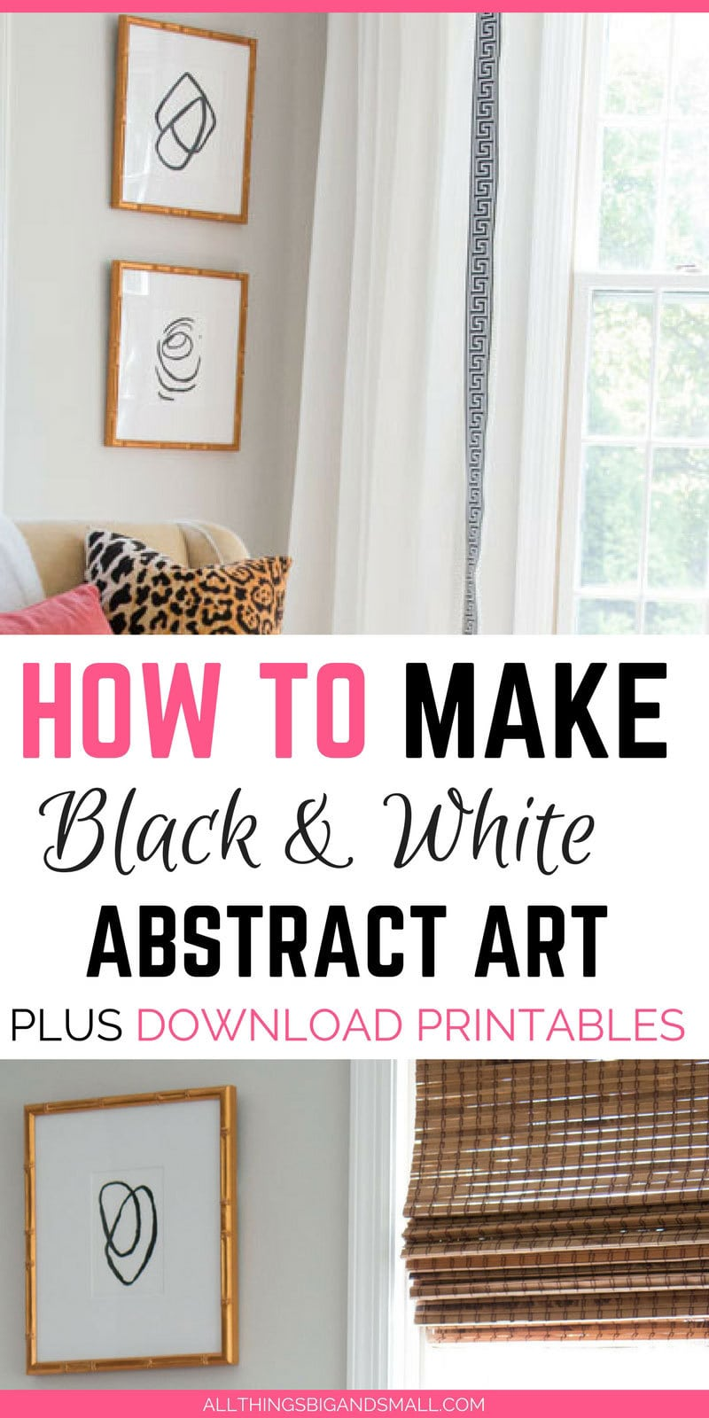 Easiest abstract black and white art that anyone can do PLUS download a printable! #AD | ALL THINGS BIG AND SMALL